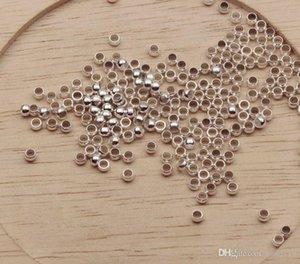 Cgjxs Heiß! Messing versilbert Runde 2 .5mm / 3 .0mm / 3 .5mm / 4 .0mm Crimp End Beads (B174)