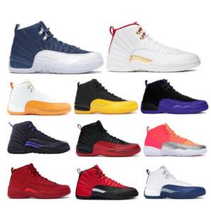 Veloce Shippment 12 Dark Grey Mens scarpe da basket Gioco Reale FIBA 12s Internazionale Volo CLASSE DI 2.003 Michigan all'aperto scarpe da tennis con la scatola