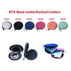 RTS Plain Colore Per Sublimazione impermeabile Auricolare sacchetto della cassa del neoprene con zip borsa della moneta del sacchetto della copertura del viso Con Portachiavi FWA1692
