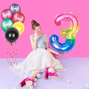 40inch الحلوى رقم اللون احباط globos الهواء بالونات أرقام استحمام الطفل عيد ميلاد حزب زينة الاطفال الحزب اللعب لوازم الزفاف