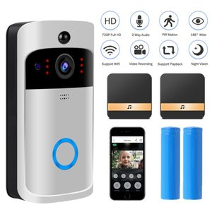 Videocamera Video Phones Smart Basebell 720P HD Camera Intercom IP Wireless WiFi Bell Security Security Monitor Night Vision
