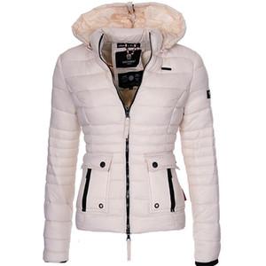 ZOGAA Женщины Зимняя куртка Пальто Теплая одежда Puffer ветровки Мода Outwear Slim Fit Твердая вскользь с капюшоном пальто женщин Parka 200928