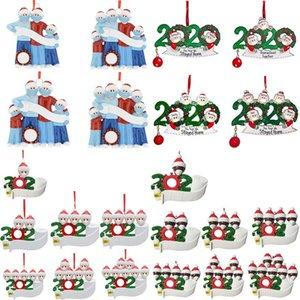 PVC Noel Süsler 2020 Can DIY Adı ve maskeler Kardan Adam Aile Noel Süsleri Noel ağacı Süsler XD23941 Aşınma Nimetler