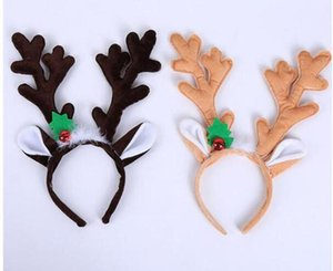 Christmas Headband Hat Fancy Dress Hat Reindeer Antlers Santa Xmas Kids Baby Girls Adult Novelty Hairwear For New Year Gift