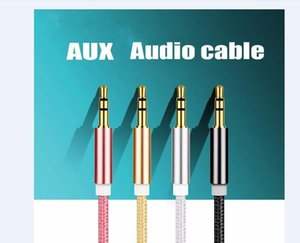 High quality Nylon braided audio cable 3.5 mm Jack Aux Cable aluminium alloy Male to Male Aux Cable Adapter for smartphone Headphone Speaker