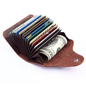 carte femmes mode chaud gardien de véritables sacs en cuir porte d'identité titulaire affaires Carte de crédit ID dames bolasa 13 cartes