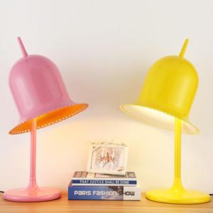 Nordic MooiLolita Cappello Desk Lamp Modern Hotel Casa Soggiorno Camera da letto del lavoro di studio per le lampade da tavolo