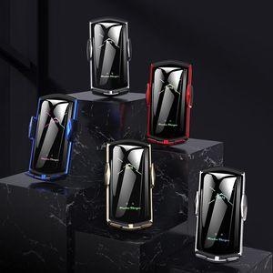 E6 voiture chargeur sans fil avec 3 IN 1 magnétique voiture à l'aspiration Smart Sensor Téléphone Porte-grille d'aération Support voiture Téléphone Support