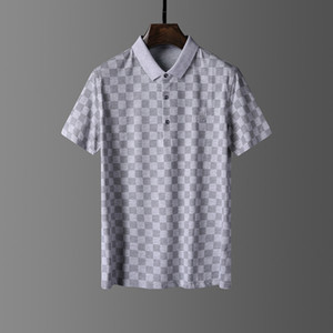 Camicia a maniche corte T-shirt nera di disegno del ricamo dei nuovi uomini di POLO francese classiche da uomo Burburry Boros classiche da uomo