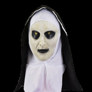 1PCS New Nun Mask Halloween Horror Scary Female Ghost HeadgearHalloween Masks Holiday Party Tricky Props Free Shipping