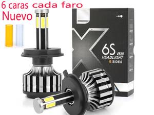Car Headlights 600W 60000LM LED Light Auto Bulbs 6 sides each Lamp H7 H11 H4 9005 Automobiles Headlamp 6000K Fog Lamps 3000K