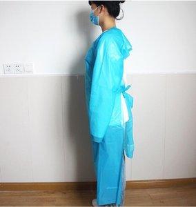 CPE Schutzkleidung Einweg-Isolation Kleider CPE Einmaliger Schürze Anti-Staub Schürze Außeneinwegschürzen CCA12544 330pcs