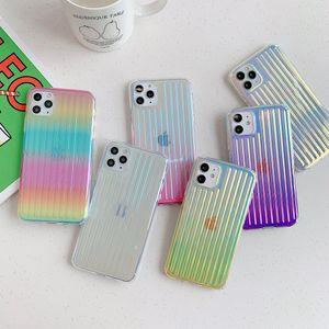 A prueba de golpes caja del teléfono de colores para el iPhone 11 Pro Max XR XS 7 8 Plus arco iris TPU casos duros