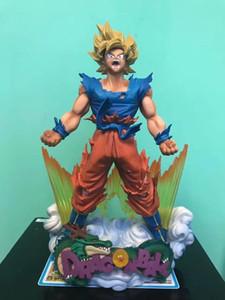 Súper figuras de acción juguetes animado Nueva Z Goku Saiyan Figura regalo Hijo Y190529 Christmas Collection para la colección de PVC 24cm home2009 xFzfc