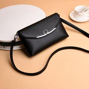 Pochette delle donne di mezza età spalla obliqua semplice delicato pelle Piccola borsa mamma morbida borsa della moneta del Mother-in-Law