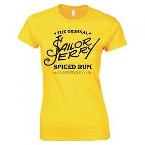 Sailor Jerry Logo Bayanlar Skinny Fit Tişört