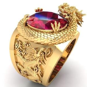 or mode 3D anneau de dragon pour les hommes la taille du mélange anneau 7 à 13