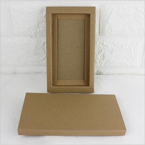 Hot Fashion Kraft Paper Drawer Cardboard Box For Phone Case Cover Jewelry Packaging Box Red White Black Kraft Paper Slid Style Box