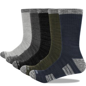 YUEDGE Brand Men High Quality Breathable Comfortable Cotton Cushion Casual Crew Socks 5 Pairs 200924