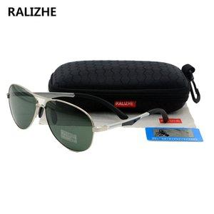 Ralizhe Top Quality Metal Polarized Moda Óculos Designer Sunglasses Verde Aviação Classic Marca Unisex Mulheres dirigindo UV400 Pnmem