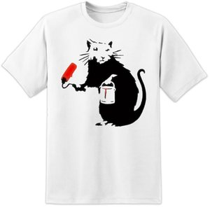 banksy painting rat graffiti t shirt panda artist retro vintage clothing mens cartoon t shirt men unisex new fashion tshirt
