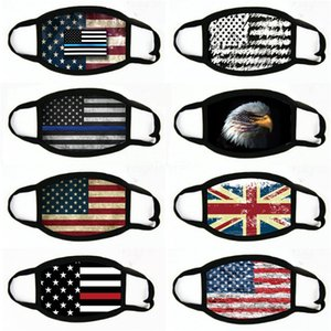 Baskı toz geçirmez eksikliği Maskeler Amerikan Seçim Malzemeleri Evrensel İçin Erkekler Kadınlar Amerikan Bayrağı Parti Maskesi # 944 Maskesi
