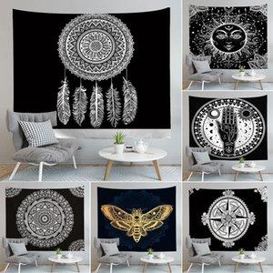 Mandala Tapestry Hippie Wandbehang Blumen-Digital-gedrucktes Böhmen Bedspread Strandtuch Mat Yoga-Matten-Decke DHC1521