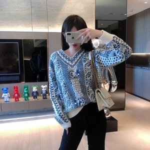 2020 novas mulheres blusas de inverno de moda camisola Nova Zelândia fios de lã de cordeiro tecnologia 100% Jacquard embelezado sexy all-jogo de jumper