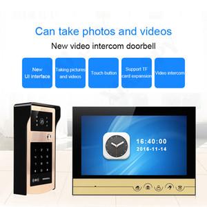 Özel ev video çağrısı ev interkom kalecisi Telefon için iç bağlantı video kapı zili video göz interfonlar