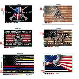 Новый стиль Америки Флаг Customized 90 * 150см Trump 2020 Keep America Great American Flag Президентские выборы Флаги Морские перевозки IIA657