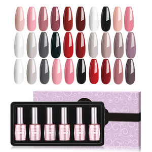 MIZHSE 18ML UV Nail Gel Polish 6pcs Set Gel Varnish Vernis All For Nails And Manicure Set Gellak UV Nagels Nail Polish Gellak