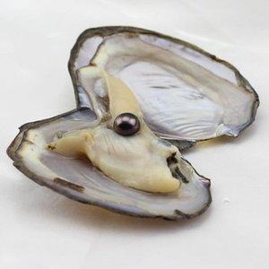 Cgjxs 2017 Moda Rosa Bianco Nero grande della perla naturale di ostrica perla dell'acqua di mare per le donne Dichiarazione gioielli e accessori Sottovuoto Chi