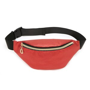 Waist bag creative new product flash litchi grain spring and summer 2020 Korean shell type lady chest bag foreign trade wholesale small bag