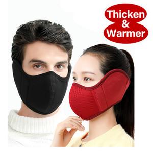 2020 Nuova maschera Designer Con Cuffie orecchio della copertura flanella calda inverno Biker Cyling di driver del motore Ski Mask Earmuffs lavabili riutilizzabili