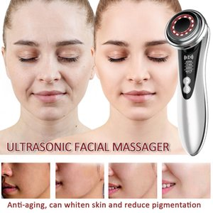 Ultraschall-Farb-LED-Photon-Gesichts-Haut-Reiniger Gesichtsmassager-Falten-Entferner Anti-Aging-Ultraschall Schönheit Import InstrumentRabi