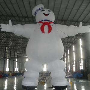 Anpassbare Realer Cartoon Modell Aufblasbare Bleiben Puft Pop Up Ghost Master Marshmallow-Mann-Charakter für die Werbung
