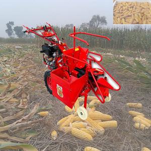 Çin Mini tatlı sıra mısır / biçerdöver ekipmanları küçük hasat makinesi birleştirmek mısır