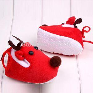 New Cute Warm Winter Baby Christmas Deer Shoes Sweet Antiskid Toddlers Shoes Baby Girls Infant Prewalker Toddler