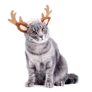 Teddy Bulldog Schnauzer Animaux de Noël Bandeaux Creative mignon Elk chien cheveux ornements de fête Chat Chien Parti drôle Accessoires