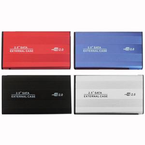 USB 2 .0 2 0.5 بوصة ساتا قارئ الأقراص حالة إيد الخارجية ضميمة مربع الأقراص الصلبة موبايل للكمبيوتر محمول القرص الصلب الألومنيوم سبيكة -Magnesium
