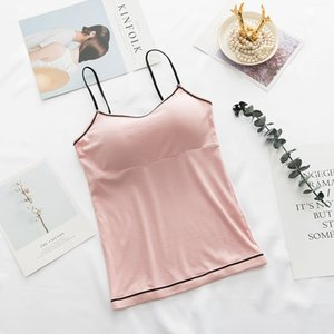 Liva Girl Female Padded Tank Top Camisole Slim Sexy Strap Top Women Summer Off Shoulder Camisole