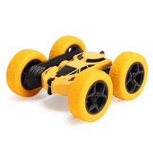 2.4Ghz Remote Control Cars Stunt Rc Car High Speed Flashing 3D Flip roll Green & Blue Electric Race Double S Toys Christmas gift