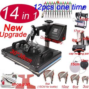 14 1 Isı Presi Sublime Yazıcı ise / ayakkabı Makine Kalem Isı Basın İçin Kupalar / Caps / T gömlek / ayakkabı / şişe / kalem aktar