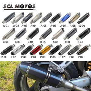 Scl MOTOS UNIVERSEL 35-51mm Мотоцикл AK глушитель Побег Moto Изменить Мотокросс Для птах CB400 ER6N GY6 ATV Dirt Bike Pit