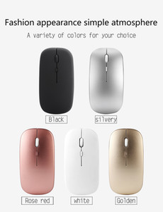 2.4G Wireless Rechargeable Charging Mouse Ultra-Thin Silent Mute Office Notebook Mice Opto-electronic For Home Office Dropship 50pcs XU-SB-2