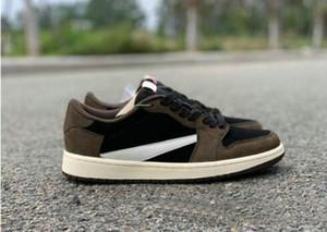 Travis Scott x 1 Low Olimpiadi SP TS 1s scarpe Brown Black pallacanestro Sport Sneakers US5.5-US12