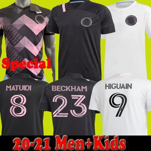 # 9 HIGUAIN 20 21 INTER MIAMI CF Мужчины детские футбольные трикотажки Beckham Pizarro специальные фанаты Matuidi Fans Black White 2020 2021 футбольные рубашки
