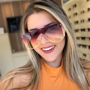 Солнцезащитные очки Унисекс мода Дамы одно цельные Квадратные Женщины Гоггл оттенки Урожай Бренд Негабаритные Солнцезащитные Очки для Женской Зоннебриль
