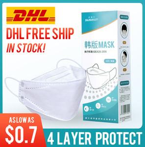 entrega libre de DHL! Kn95 3d máscara de protección de la boca de pescado blanco transpirable fina hoja de sauce negro máscara cómoda desechable para hombres y mujeres