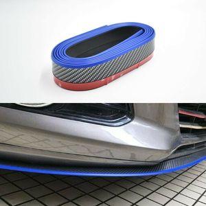 2.5M Carbon Fiber Black & Blue Front Bumper Lip Splitter Spoiler Chin Protector